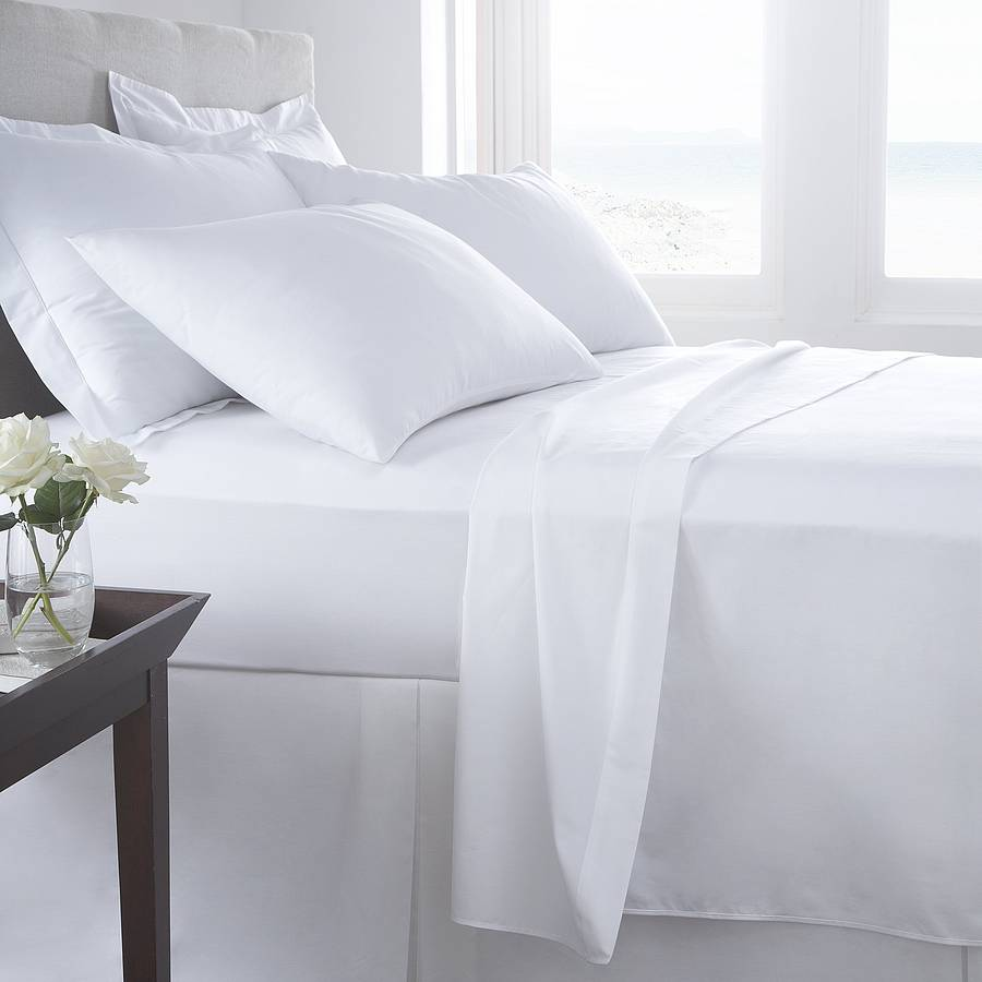 Single,Double,King 100/% Egyptian Cotton Flat Sheets 200TC Percale Bed Sheets