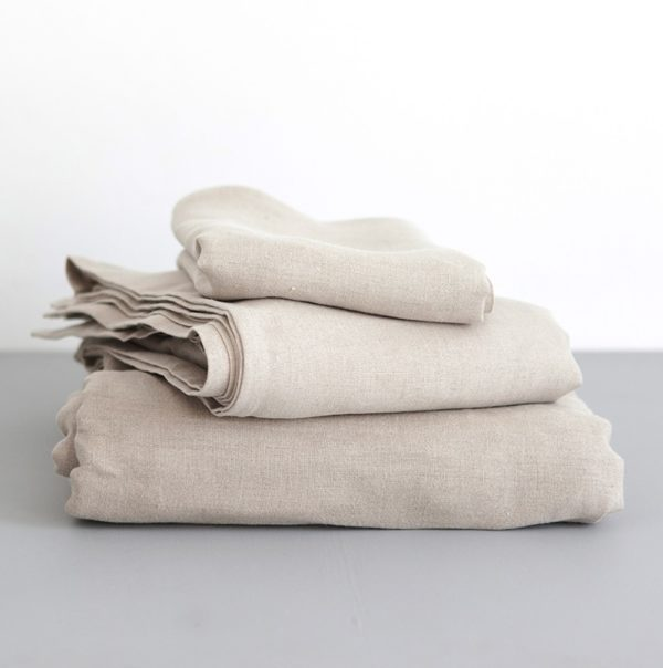 Fitted Sheet 100% Linen - Natural