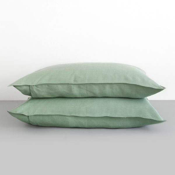 Pillowcase 100% Linen Verdite